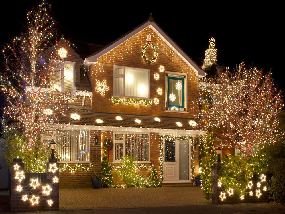 Украшаем дом для нового года